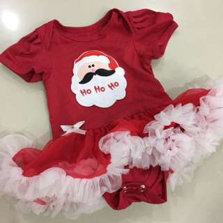 Christmas Romper with hairband n shoes