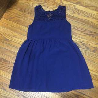 Blue Lacey Top Dress