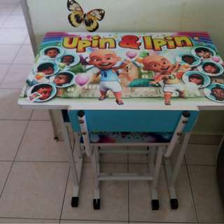 Kids Children Study Desk Table Set Chair Meja Kerusi Budak