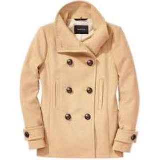 Aritzia Babaton Howell Wool Cashmere Peacoat Jacket