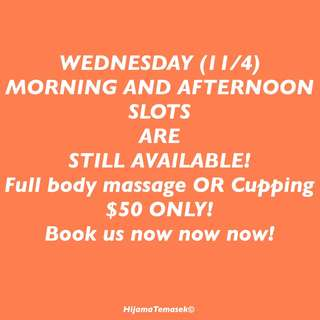 MASSAGE or CUPPING