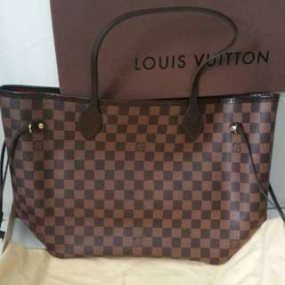 💯 Authentic LV Neverfull MM