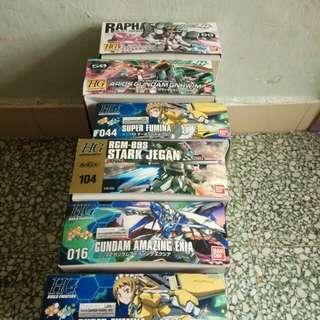 Hg 1/144 gundam 高達模型 100/盒