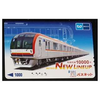 (HA63) 日本 火車 地鐵 車票 MTR TRAIN TICKET, $10