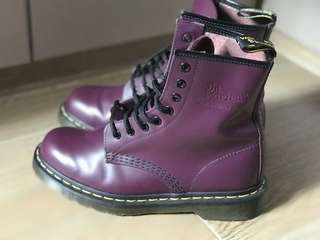 Dr Martens 女裝 紫色 boot EUR 38 1460 8 孔