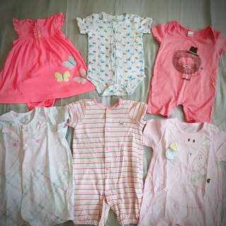 Baby Girl Clothes rompers bundle