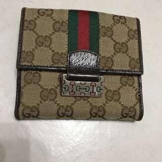 🚚 Gucci正版真皮錢包 八成新 原價13980