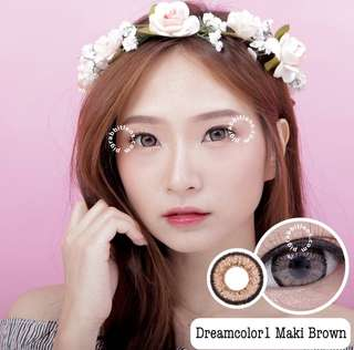 Maki brown softlens normal