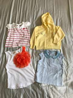 Baby girl tops 3-6month