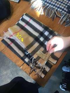 (期間限定)Burberry 3色 經典 格仔 頸巾 cashmere scarve 英國直送/香港面交 女朋友 男朋友 禮物