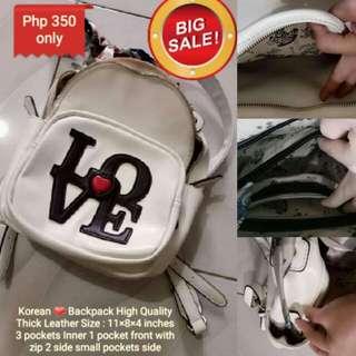 Sale❤ KOREAN Backpack  Leather