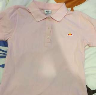 WOMENS ELLESSE POLO LIGHT PINK
