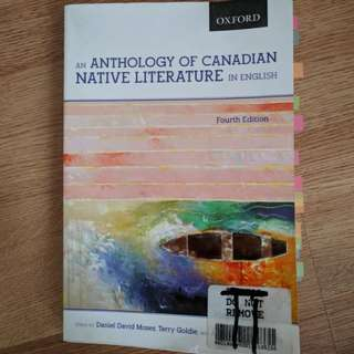 An Anthology of Canadian Native Literature in English by Moses, Goldie, and Ruffo