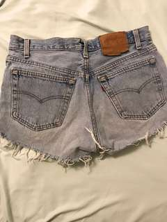 Levi's high waisted button up shorts