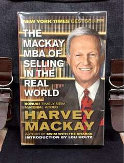 # Highly Recommended《New Book Condition + Sales Legend Teaching Go-Getters How To Make The Sale And Hit The Numbers, Day In And Day Out》Harvey Mackay - THE MACKAY MBA OF SELLING IN THE REAL WORLD