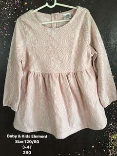 Laced Dress for Girls 3-4T