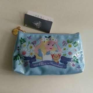 日本disney store 最新alice in wonderland 愛麗斯萬用袋化妝袋筆袋