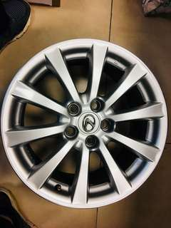 Original OEM Lexus rims for is250 --17 inches X4 with Lug nuts