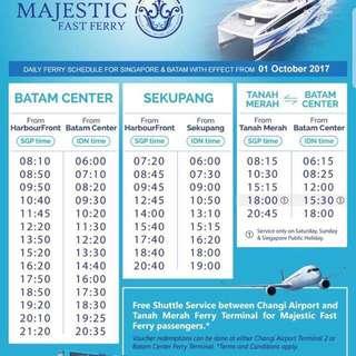 Cheap batam majestic 2 way ferry ticket