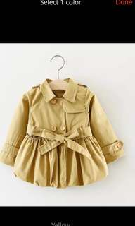 Spring Autumn Girls Double Breasted Cardigan Infant baby kids Lace Coat Children Outwear