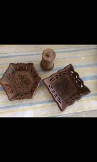 Wood tray collectibles