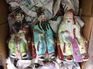 Fu Lu Shou seated