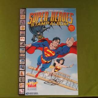 Super Heroes Stamp Album Comic Book