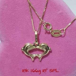 18K Saudi Gold Necklace Gold Necklace