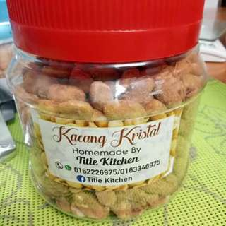 Kacang kristal homemade