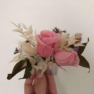 Bridal hair flower accessory