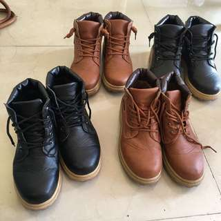 Bundle Combat Boots simlilar with cat and timberland boots