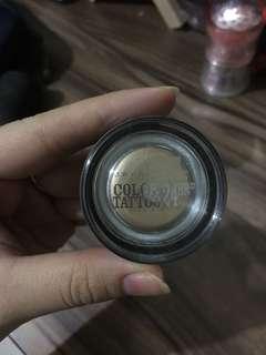 Maybelline color tattoo eyeshadow cream gold
