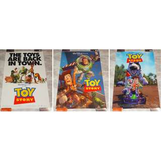 Set Of 3 Toy Story Original 1 Sheet Posters 1995 Walt Disney Company Pixar Movie