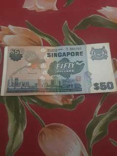 Bird Series $50 Old Singapore Note