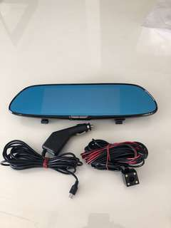 Rearview Mirror Camcorder-2CH (Front & Back Recording)