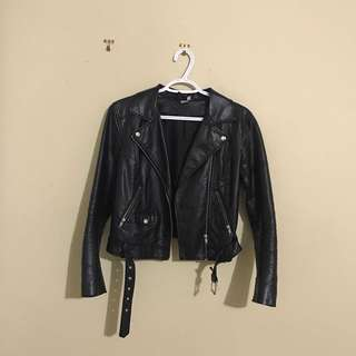 Black Faux Leather H&M Jacket