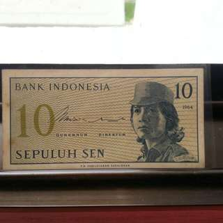 10cent Note Indonesia.