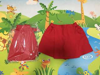 PCF Sparkletots Girl Uniform Skort Size S