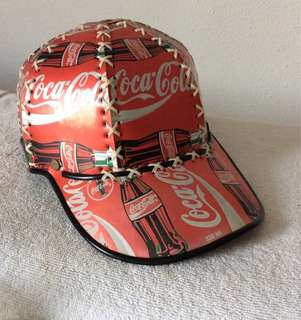 Vintage Coca Cola Baseball Cap made from Coke cans