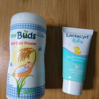 Tiny Buds Powder and Lactacyd Liquid Powder