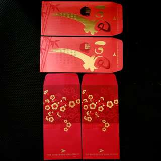 4pcs The Bank Of New York Mellon Red Packet *embossed