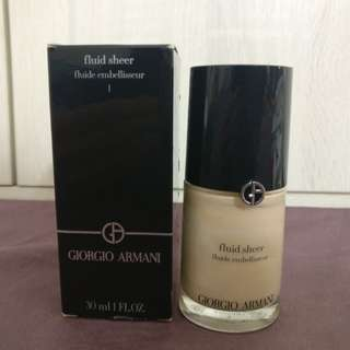 正品全新 Giorgio Armani fluid sheer 30ml 薄紗流光粉露