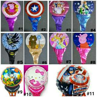 Children party handheld foil balloons