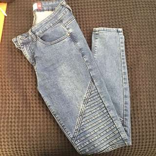 Rubbed Skinny Jeans