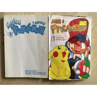 Pokemon comics both selling for $3