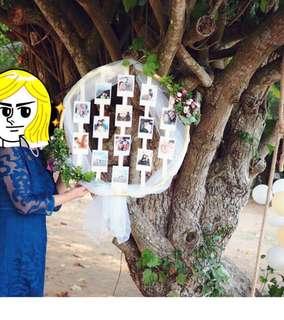 婚後物資 自製相架 相框 Boho photo booth
