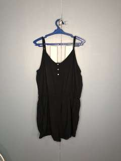 Black Romper Shorts