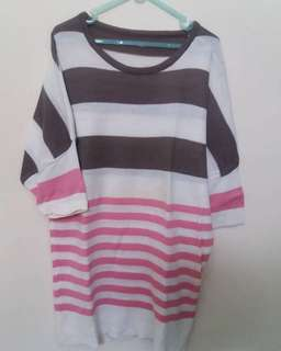 Salur top warna warni