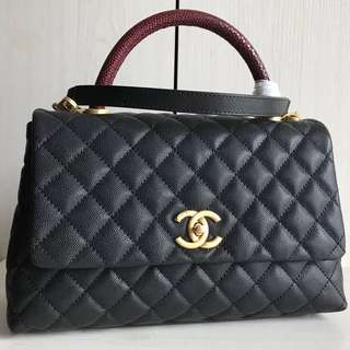 Chanel Top Handle Flap Bag (Just look at the price without looking at quality.Please bypass,Tq)