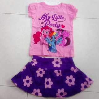 My little pony 2 piece set